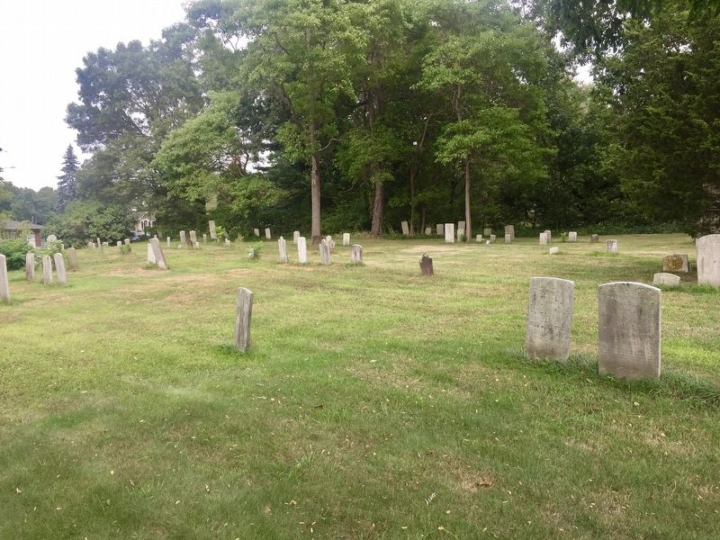 Graveyard behind the Commack Methodist Church image. Click for full size.