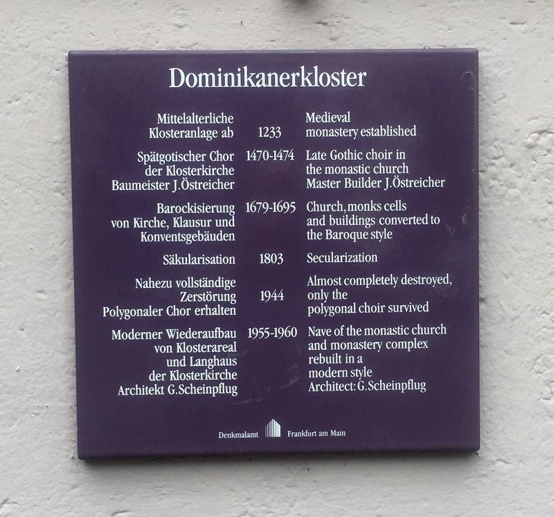 Dominikanerkloster / Dominican Monastery Marker image. Click for full size.