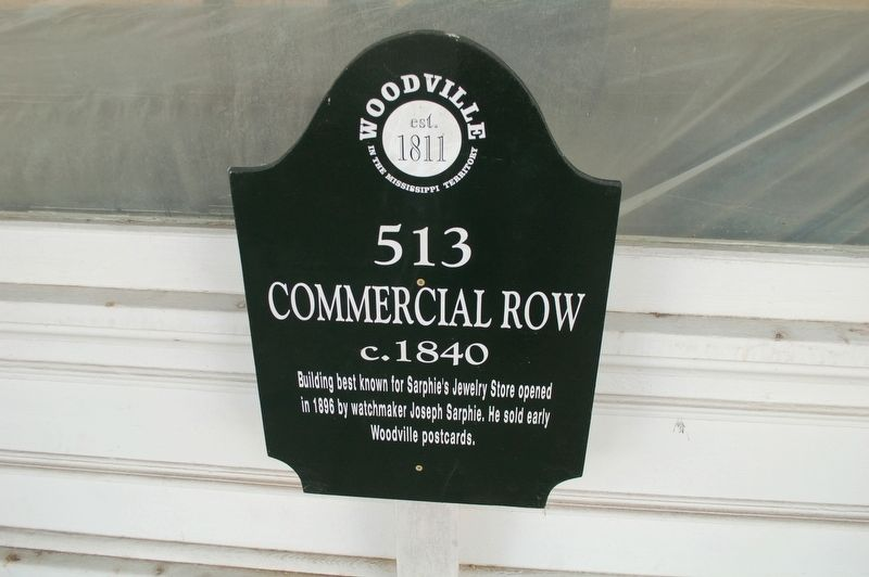 513 Commercial Row Marker image. Click for full size.