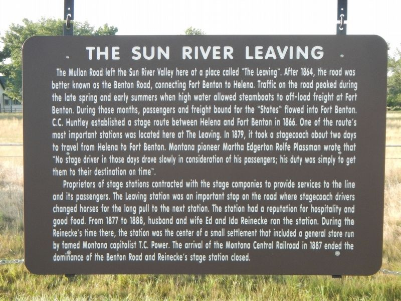 The Sun River Leaving Marker image. Click for full size.