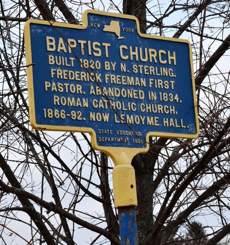 Baptist Church Marker image. Click for full size.