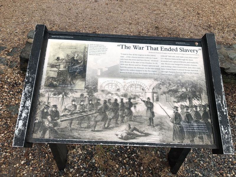 """The War That Ended Slavery"" Marker image. Click for full size."