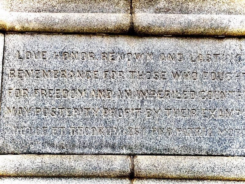 Inscription Below First Defenders Marker image. Click for full size.