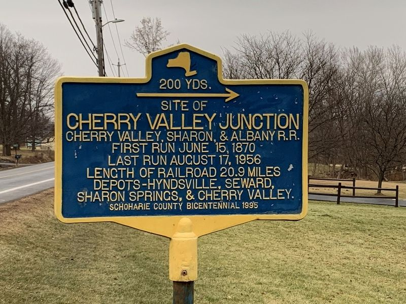 Cherry Valley Junction Marker image. Click for full size.