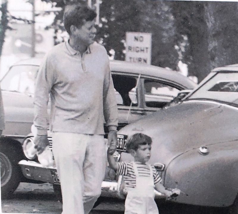 Photo Insert: JFK with his son image. Click for full size.