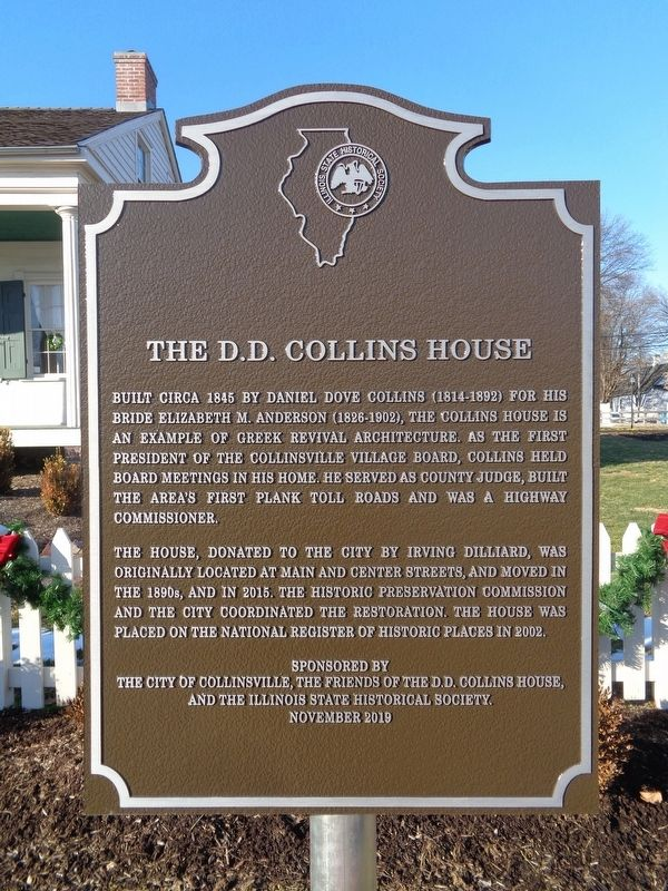 The D.D. Collins House Marker image. Click for full size.