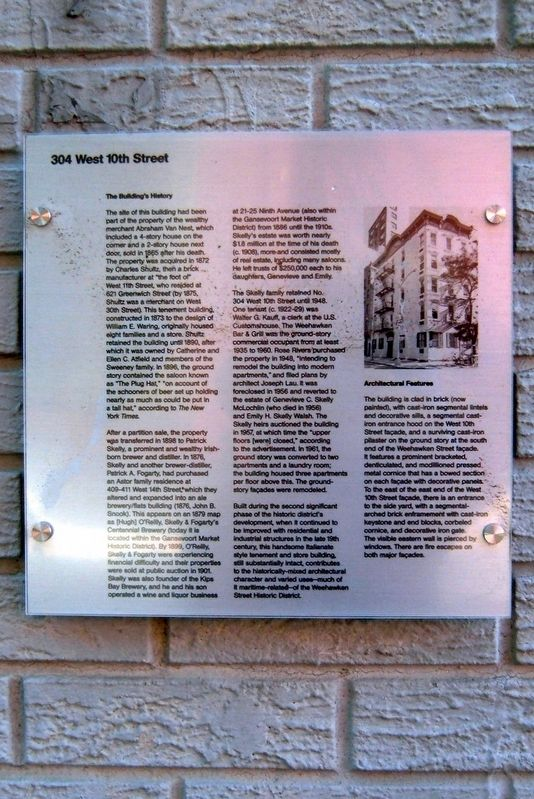 304 West 10th Street Marker image. Click for full size.