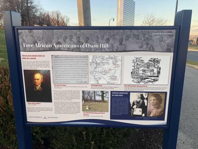 Free African Americans of Oxon Hill Marker image. Click for full size.