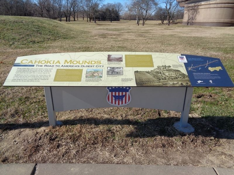 Cahokia Mounds Marker image. Click for full size.