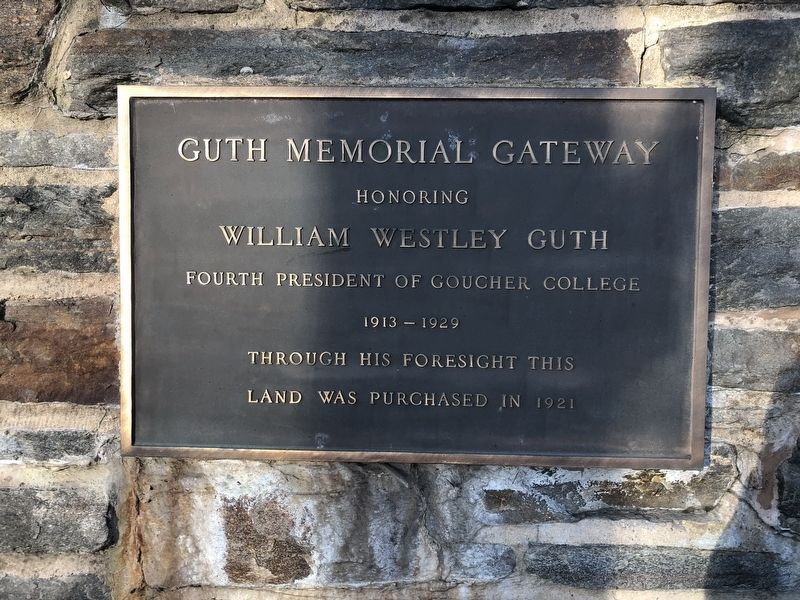 Guth Memorial Gateway Marker image. Click for full size.