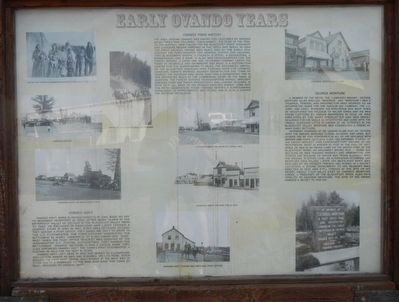 Early Ovando Years Marker, panel 1 image. Click for full size.