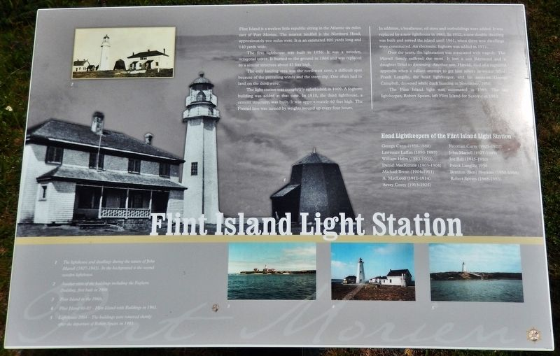 Flint Island Light Station Marker image. Click for full size.