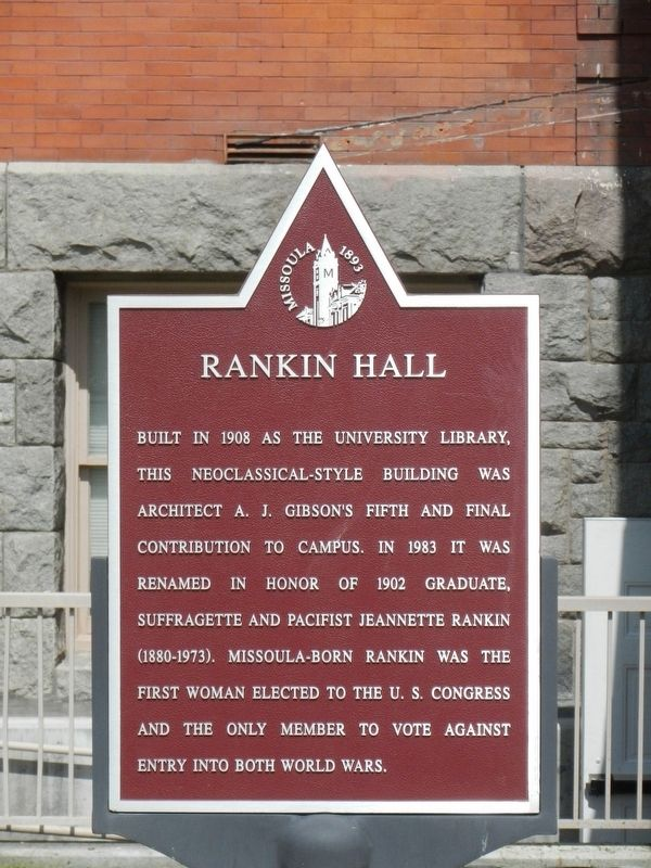 Rankin Hall Marker image. Click for full size.