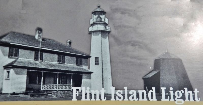 Marker detail: The lighthouse and dwellings during the tenure of John Martell (1927-1945) image. Click for full size.
