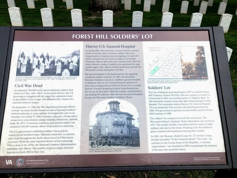 Forest Hill Soldiers' Lot Marker image. Click for full size.