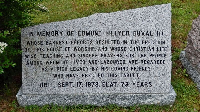 Edmund Hillyer Duval Memorial<br>(<i>located beside marker</i>) image. Click for full size.