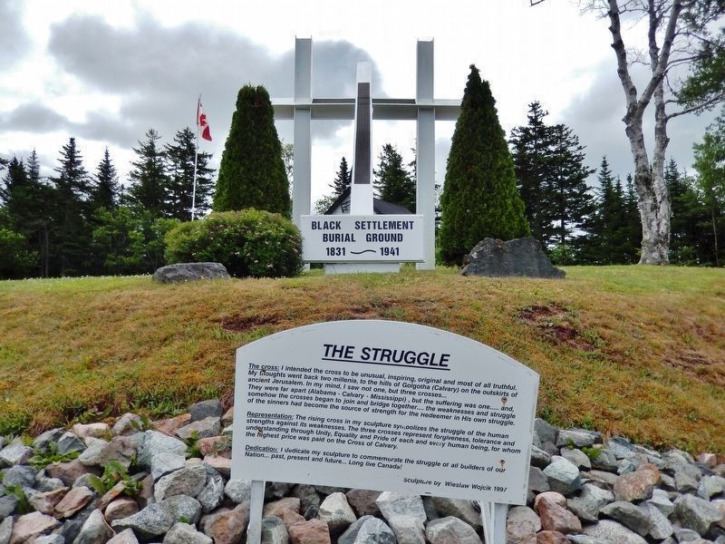 """The Struggle""<br>(<i>sculpture located near marker</i>) image. Click for full size."
