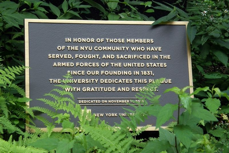 NYU Community Memorial image. Click for full size.