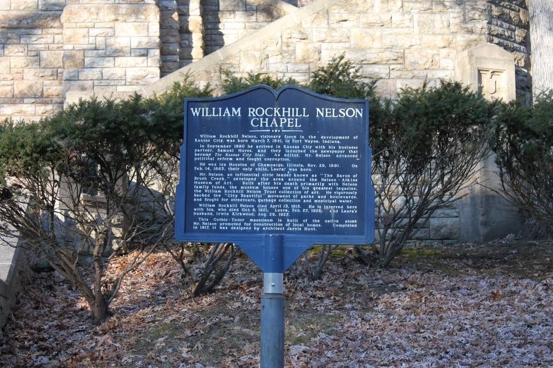 William Rockhill Nelson Chapel Marker image. Click for full size.