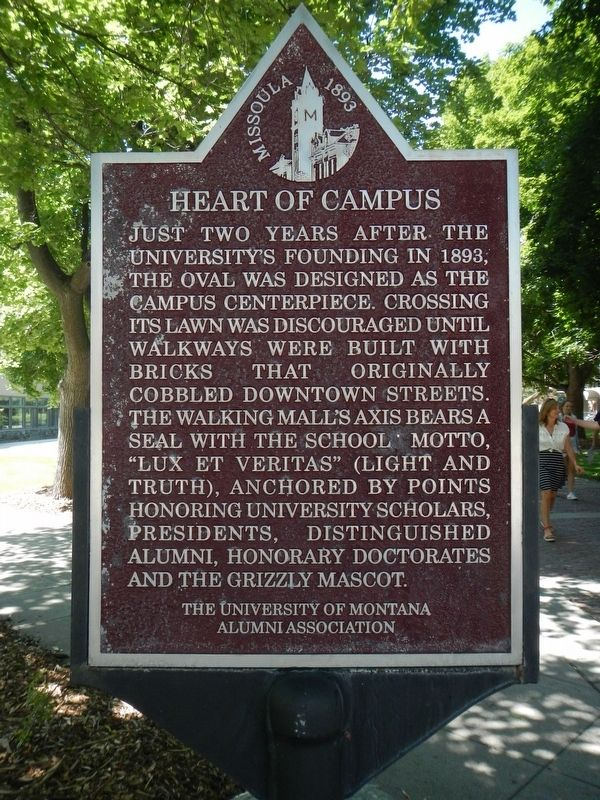 The Heart of Campus Marker image. Click for full size.