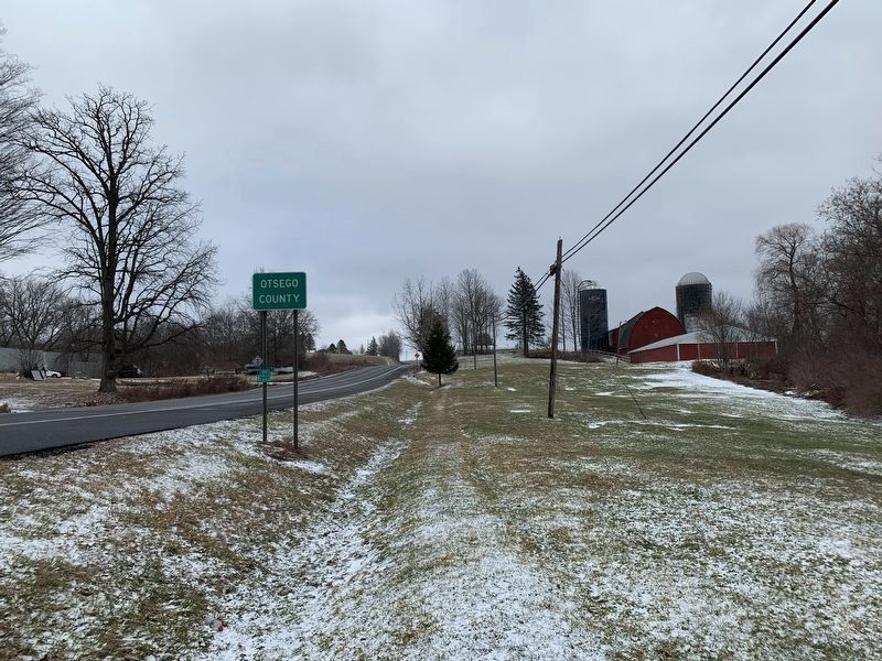 Looking East From Marker Along US 20 image. Click for full size.