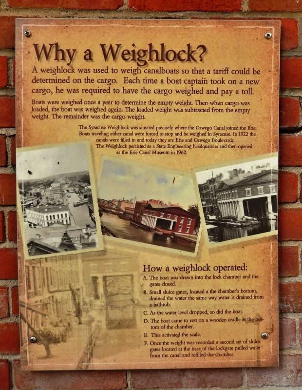 Why a Weighlock? Marker image. Click for full size.