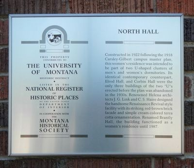 North Hall Marker image. Click for full size.