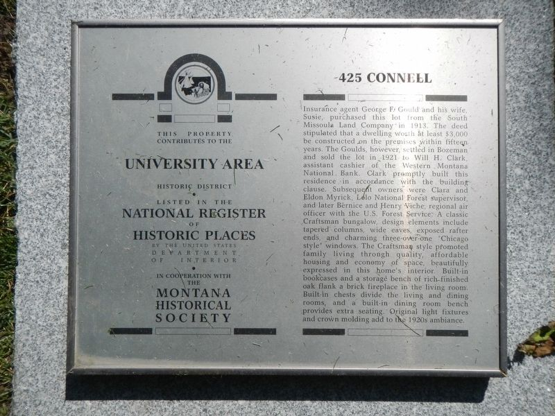 425 Connell Marker image. Click for full size.