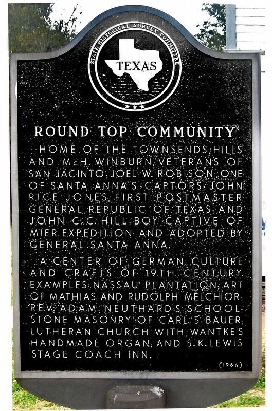 Round Top Community Marker image. Click for full size.