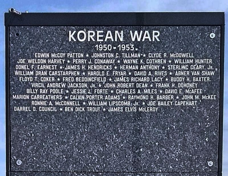 Nearby Korean War panel of names on Ring of Honor. image. Click for full size.
