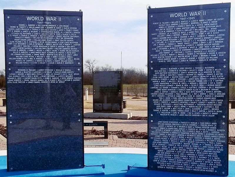 Nearby World War II panels of names on Ring of Honor. image. Click for full size.