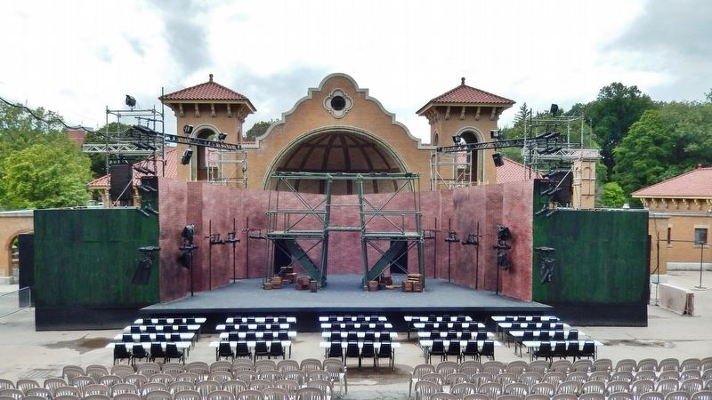Washington Park Lakehouse Bandshell<br>(<i>configured for summer as playhouse stage</i>) image. Click for full size.