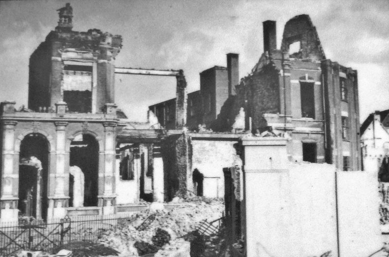 Marker detail: Nijmegen World War II damage image. Click for full size.