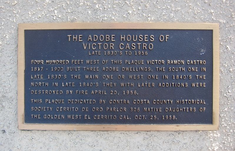 The Adobe Houses of Victor Castro Marker image. Click for full size.