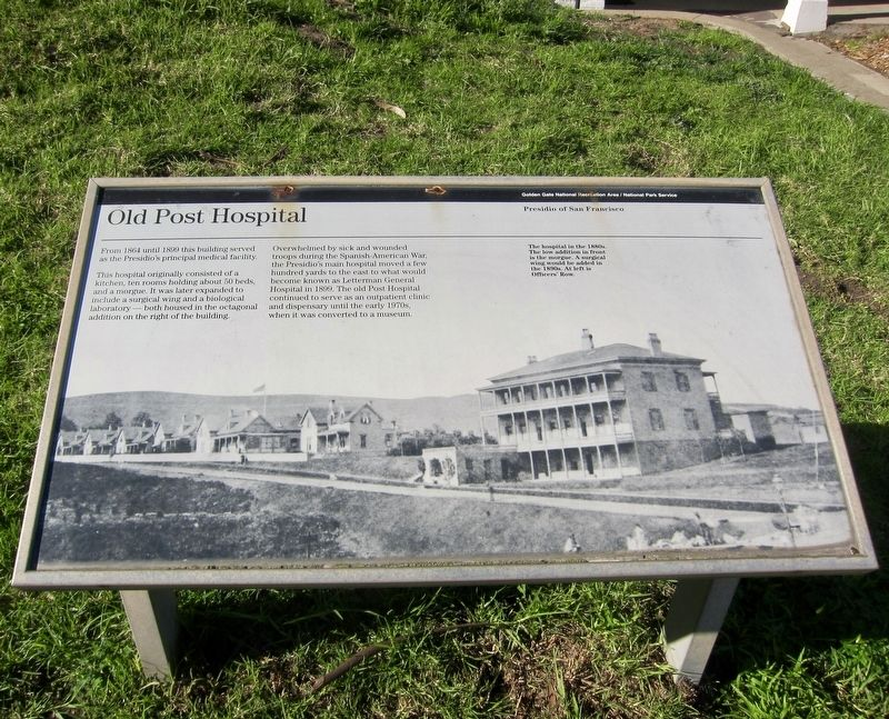Old Post Hospital Marker image. Click for full size.