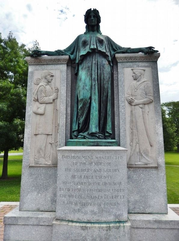 Charles J. Everett Memorial (<i>tall view</i>) image. Click for full size.