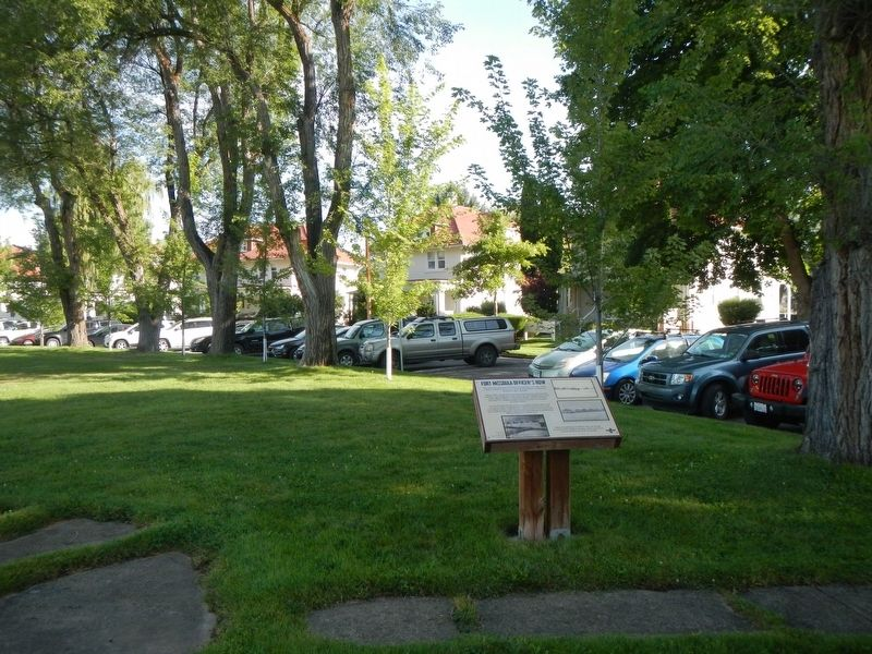 Fort Missoula Officer's Row and Marker image. Click for full size.
