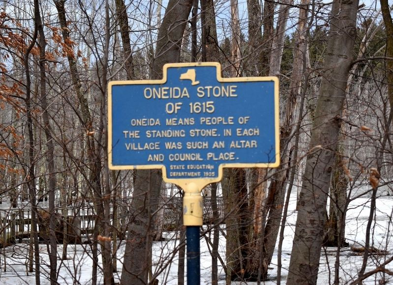 Oneida Stone of 1615 Marker image. Click for full size.