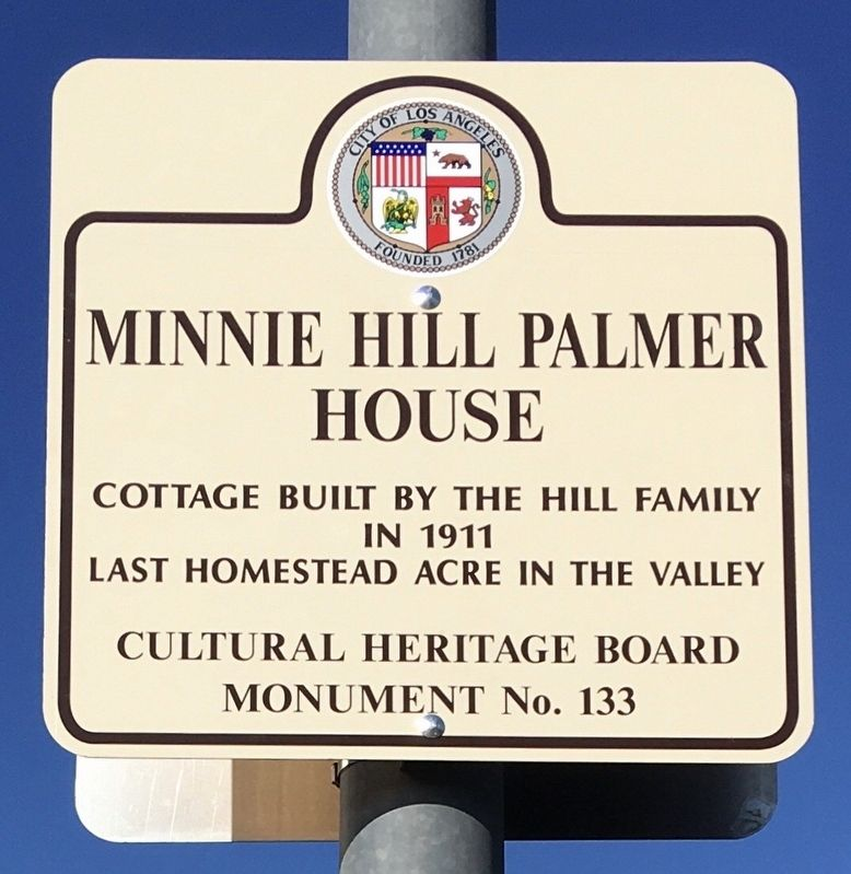 Minnie Hill Palmer House Marker image. Click for full size.