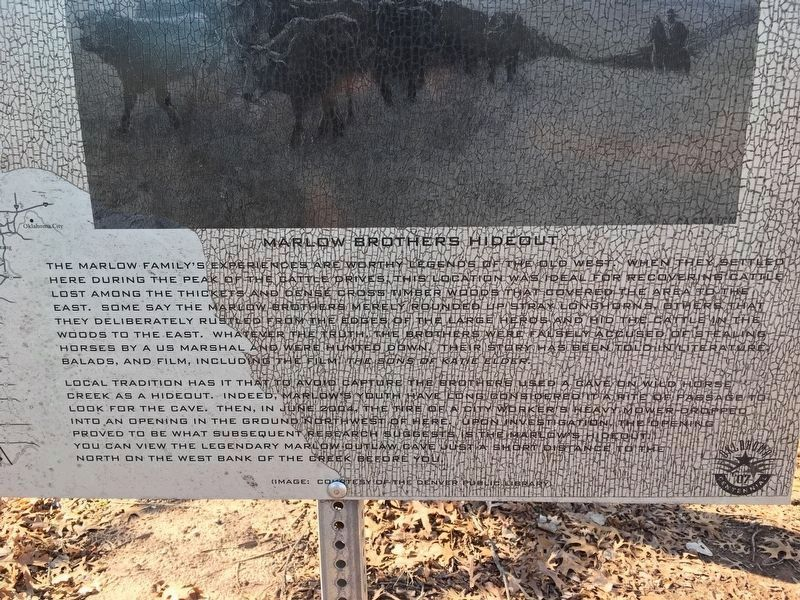 Marlow Brothers Hideout Marker text image. Click for full size.