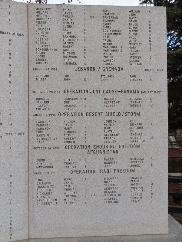 Pleasant Valley Veterans War Memorial image. Click for full size.