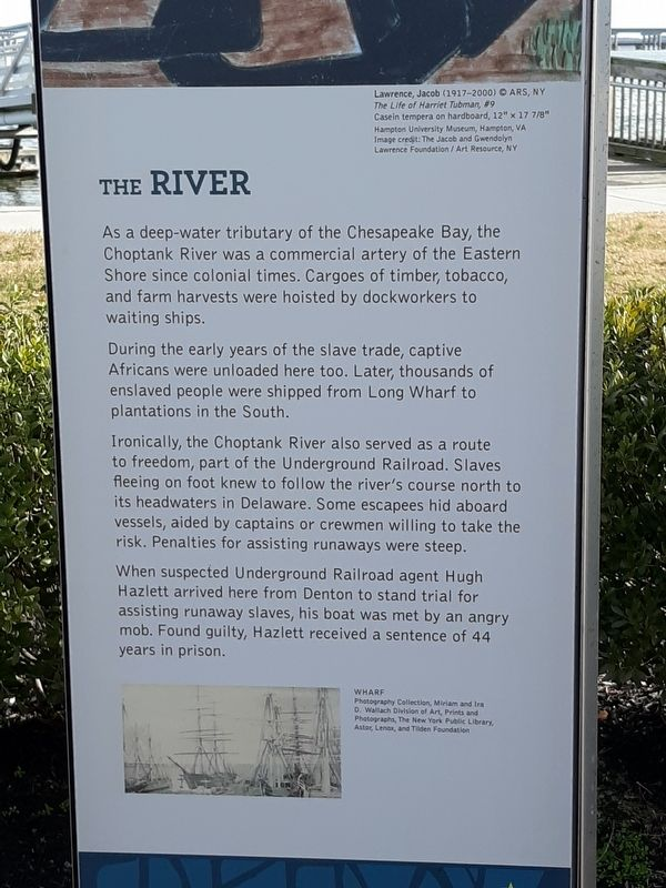 The Choptank River Marker image. Click for full size.