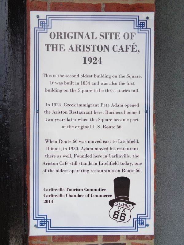 Original Site of the Ariston Cafe, 1924 Marker image. Click for full size.