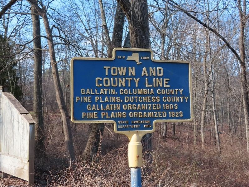 Town and County Line Marker image. Click for full size.