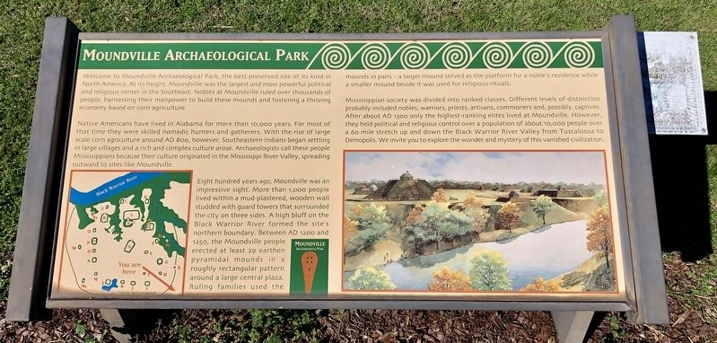 Moundville Archaeological Park Marker image. Click for full size.