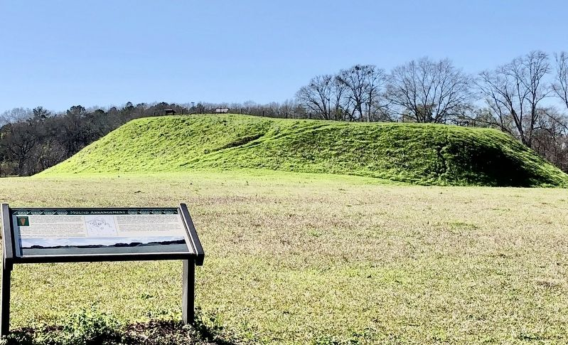 Mound Arrangement Marker with mound P in background. image. Click for full size.