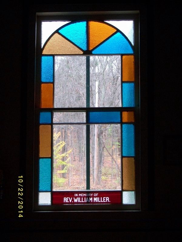 Memorial Window in William Miller Chapel image. Click for full size.