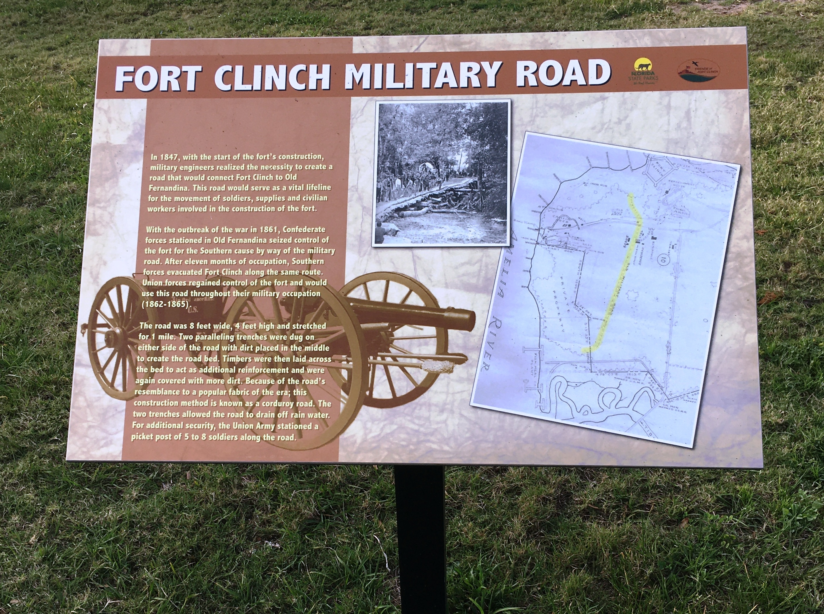 Fort Clinch Military Road Marker