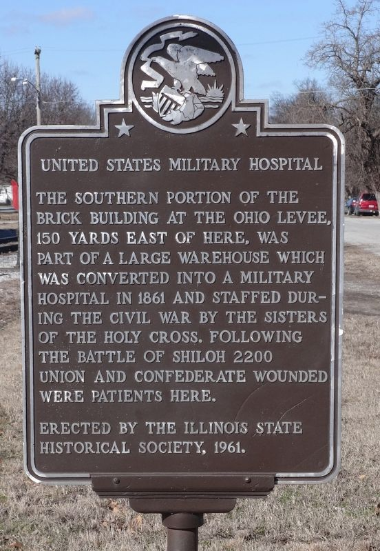 United States Military Hospital Marker image. Click for full size.