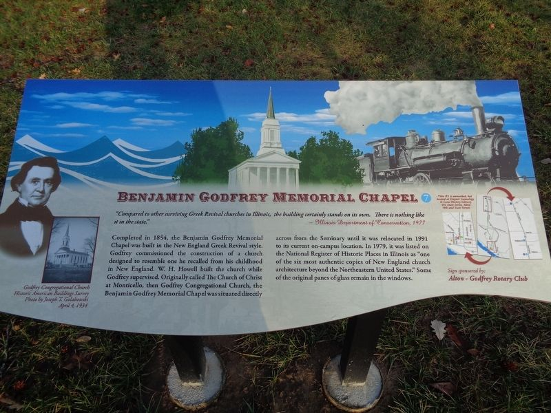 Benjamin Godfrey Memorial Chapel Marker image. Click for full size.